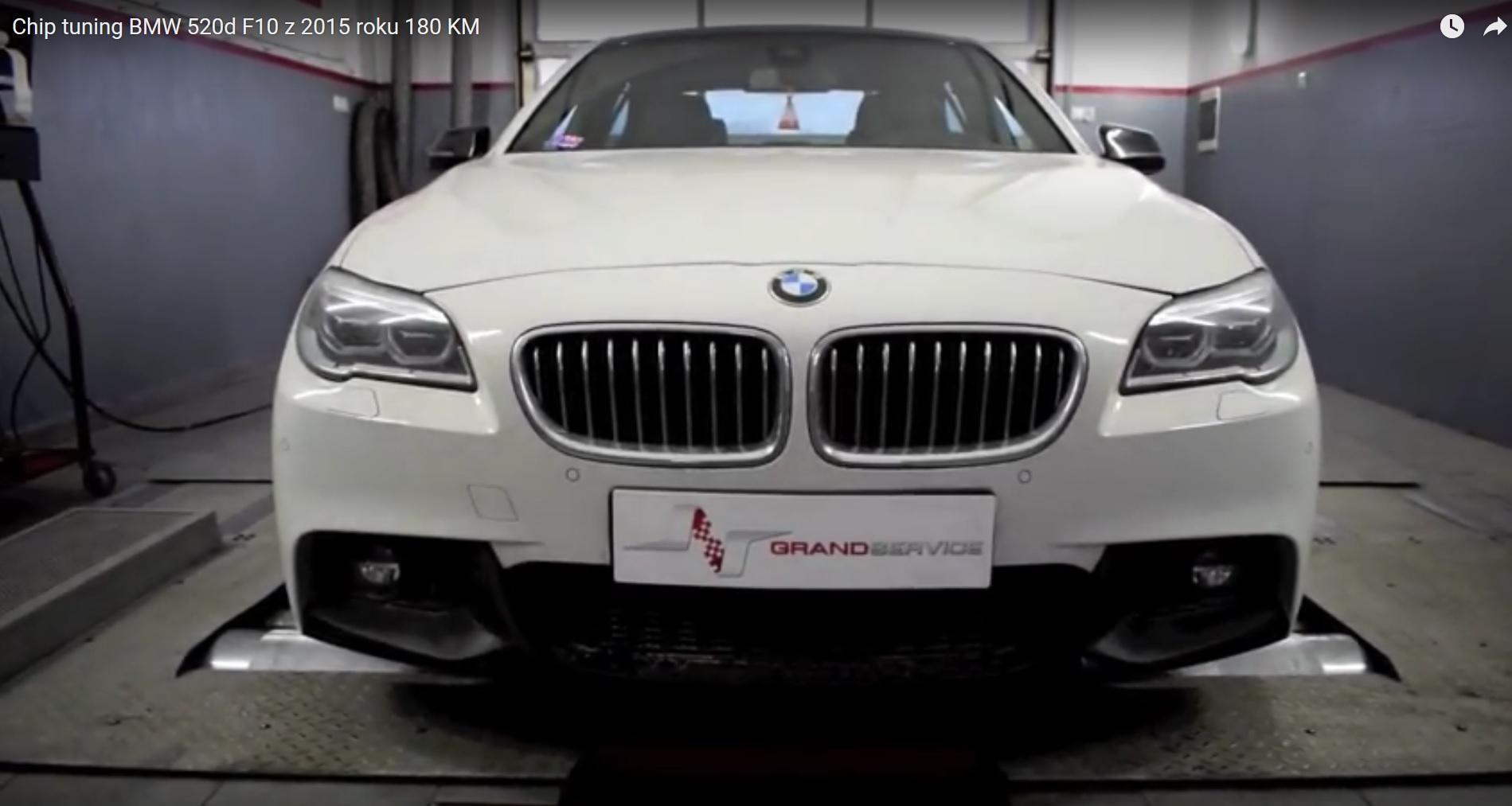 Chip tuning BMW 520d F10 z 2015 roku o mocy 180 KM
